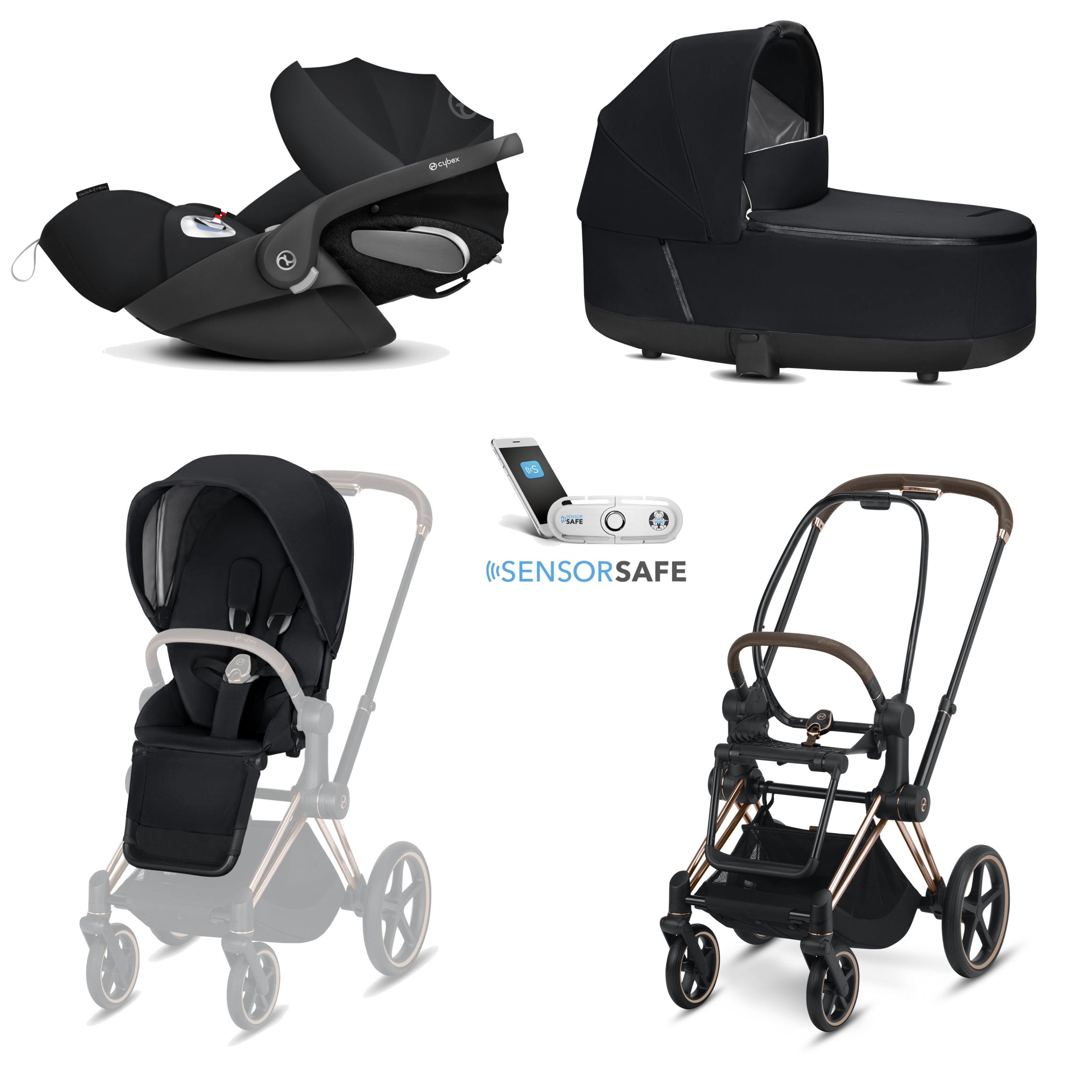 Cybex Platinum Trio Priam con Cloud Z Sensor Safe